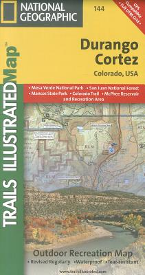National Geographic Trails Illustrated Map Durango / Cortez